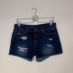 Joes jeans distressed raw hem denim shorts 29 NWOT